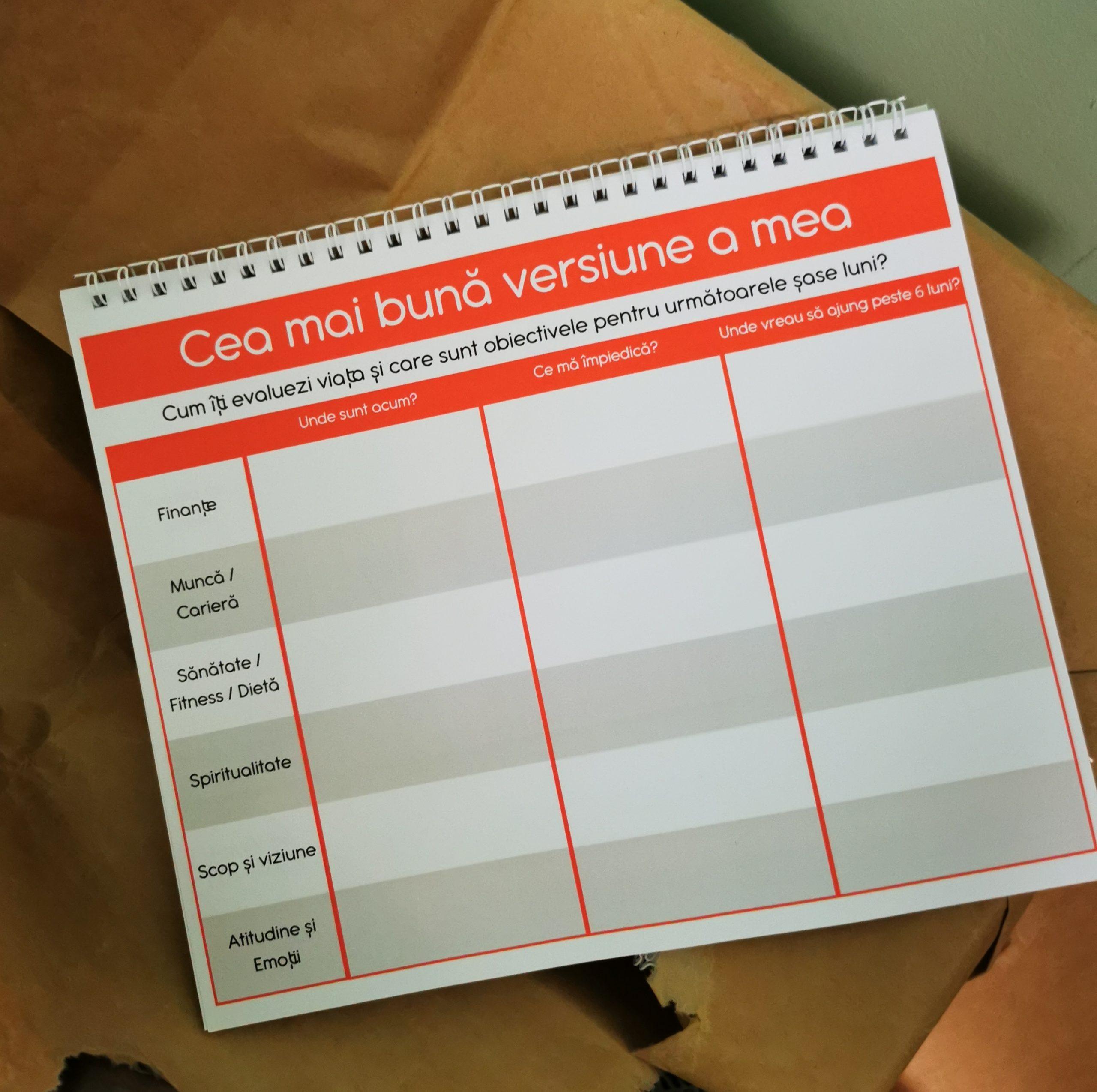 weekly planner saptamanal